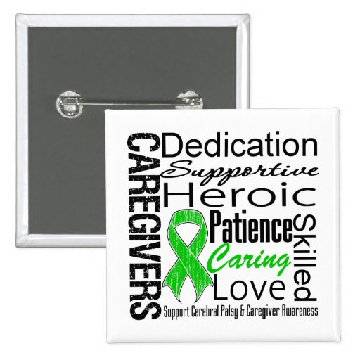 Cerebral Palsy Caregivers Collage Pin