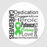 Cerebral Palsy Caregivers Collage Round Sticker
