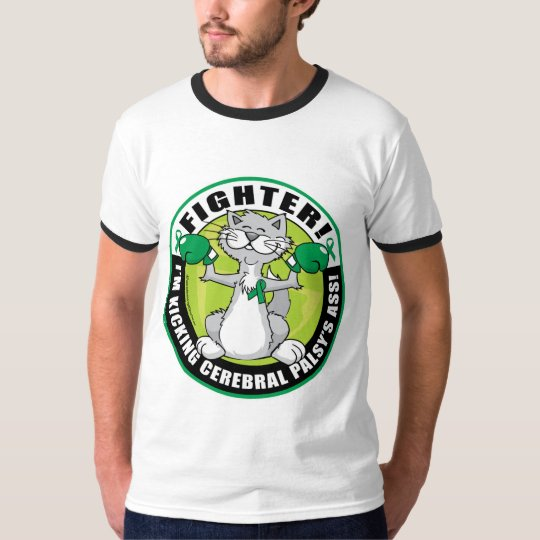 Cerebral Palsy Cat Fighter T-Shirt