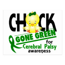 Cerebral Palsy Chick Gone Green 2 Postcard