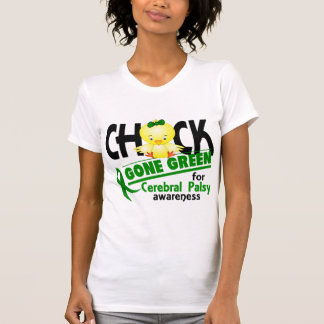 Cerebral Palsy Chick Gone Green 2 Tee Shirts