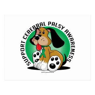 Cerebral Palsy Dog Postcard