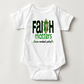 Cerebral Palsy Faith Matters Cross 1 Baby Bodysuit