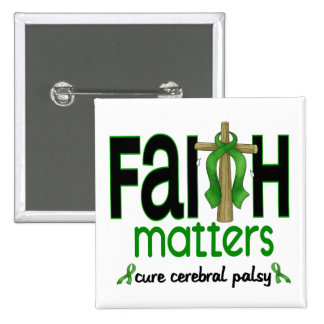 Cerebral Palsy Faith Matters Cross 1 Buttons
