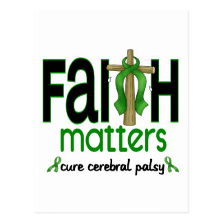 Cerebral Palsy Faith Matters Cross 1 Postcard