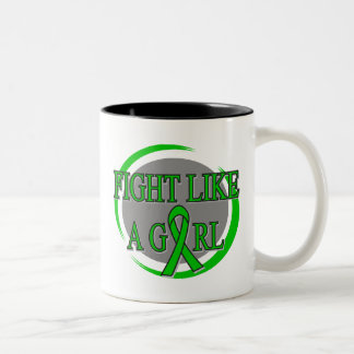 Cerebral Palsy Fight Like A Girl Circular Coffee Mug