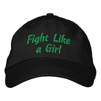 Cerebral Palsy Fight Like a Girl Embroidered Hats