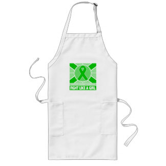 Cerebral Palsy Fight Like A Girl Flag Long Apron