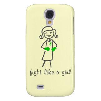 Cerebral Palsy Fight Like A Girl (Retro) Samsung Galaxy S4 Covers