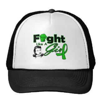 Cerebral Palsy Fight Like A Girl - Retro Girl Trucker Hat