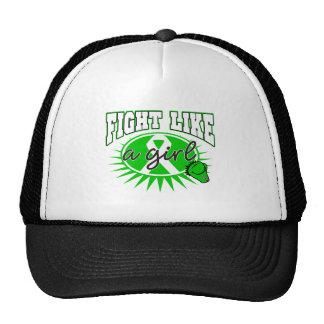 Cerebral Palsy Fight Like A Girl Sporty Callout Trucker Hat