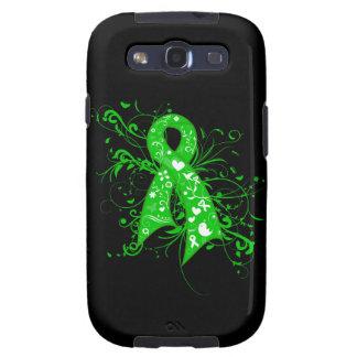Cerebral Palsy Floral Swirls Ribbon Galaxy S3 Case