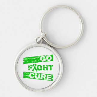 Cerebral Palsy Go Fight Cure Silver-Colored Round Keychain