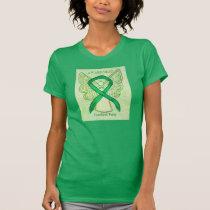 Cerebral Palsy Green Awareness Ribbon Angel Shirt