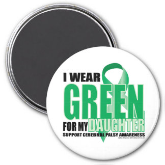 Cerebral Palsy Green for Daughter 3 Inch Round Magnet