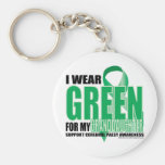 Cerebral Palsy Green for Granddaughter Basic Round Button Keychain