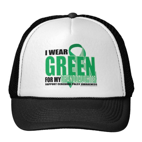 Cerebral Palsy Green for Granddaughter Trucker Hat