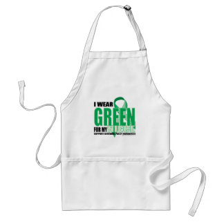 Cerebral Palsy Green for Niece Adult Apron