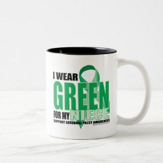 Cerebral Palsy Green for Niece Two-Tone Coffee Mug