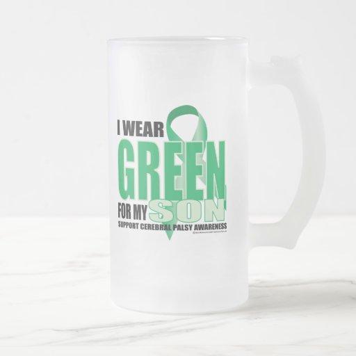 Cerebral Palsy Green for Son Mugs