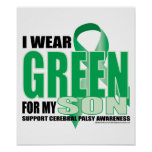Cerebral Palsy Green for Son Poster