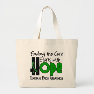 Cerebral Palsy HOPE 4 Large Tote Bag