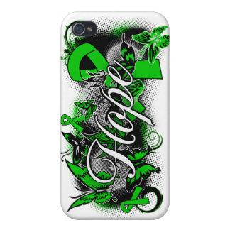 Cerebral Palsy Hope Garden Ribbon iPhone 4 Covers