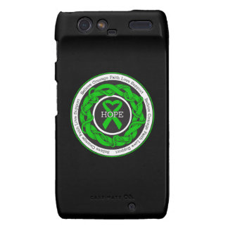 Cerebral Palsy Hope Intertwined Ribbon Droid RAZR Covers
