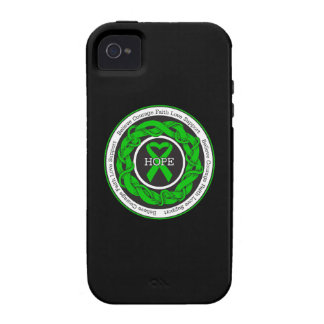 Cerebral Palsy Hope Intertwined Ribbon iPhone 4 Cases
