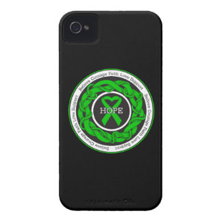 Cerebral Palsy Hope Intertwined Ribbon iPhone 4 Case-Mate Cases