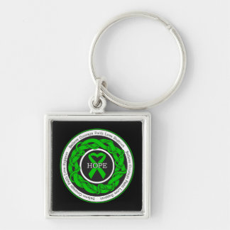 Cerebral Palsy Hope Intertwined Ribbon Keychains