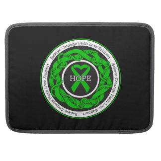 Cerebral Palsy Hope Intertwined Ribbon MacBook Pro Sleeves