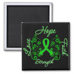 Cerebral Palsy Hope Motto Butterfly 2 Inch Square Magnet