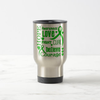 Cerebral Palsy Hope Words Collage 15 Oz Stainless Steel Travel Mug