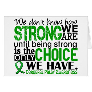 Cerebral Palsy How Strong We Are Card