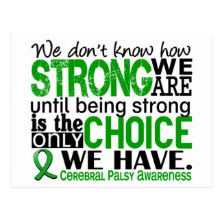 Cerebral Palsy How Strong We Are Postcards