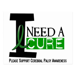 Cerebral Palsy I NEED A CURE 1 Postcard