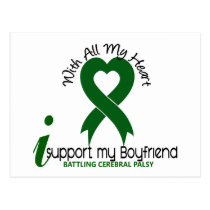 Cerebral Palsy I Support My Boyfriend Postcard