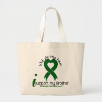 Cerebral Palsy I Support My Brother Large Tote Bag