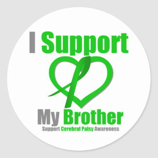 Cerebral Palsy I Support My Brother Round Sticker