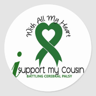 Cerebral Palsy I Support My Cousin Stickers