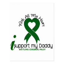 Cerebral Palsy I Support My Daddy Postcard