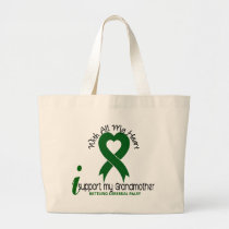 Cerebral Palsy I Support My Grandmother Large Tote Bag