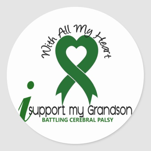 Cerebral Palsy I Support My Grandson Stickers