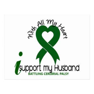 Cerebral Palsy I Support My Husband Postcard