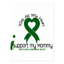 Cerebral Palsy I Support My Mommy Postcard