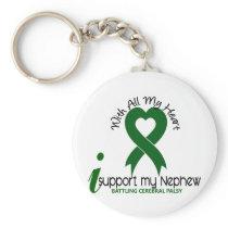Cerebral Palsy I Support My Nephew Keychain