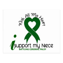 Cerebral Palsy I Support My Niece Postcard