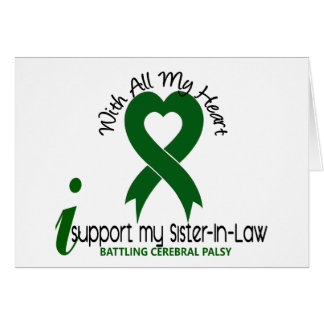Cerebral Palsy I Support My Sister-In-Law Card