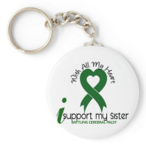 Cerebral Palsy I Support My Sister Keychain